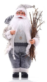 DecoKing Christmas Decoration Santa Claus Grey 43cm