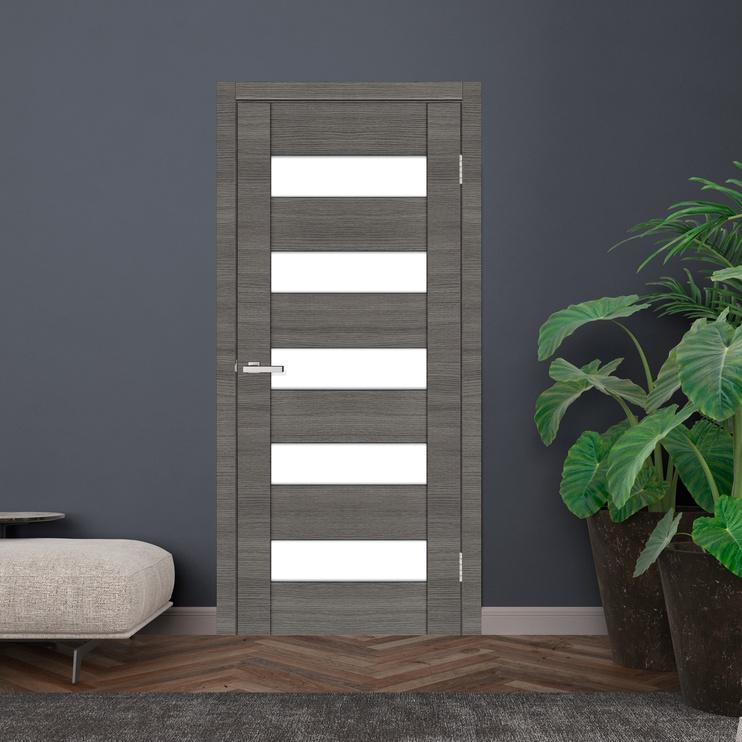 Полотно межкомнатной двери SN Door Cortex 04 PVC Oak Ash Line 800x2000mm Grey