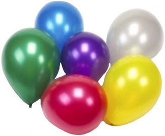 Pap Star Metallic balionai 25 cm 25 vnt