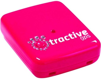 Tractive GPS Pet Tracking Device With Crystals Pink