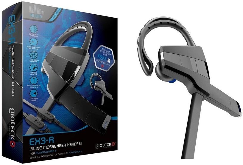 Наушники Gioteck EX-03R Inline Messenger Headset Black PS4