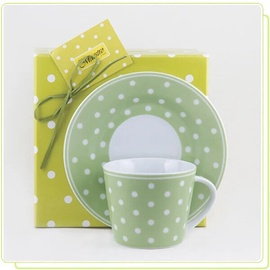 Чашка Maestro Cup With Saucer Green