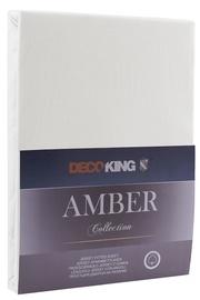 Palags DecoKing Amber, balta, 160x200 cm, ar gumiju