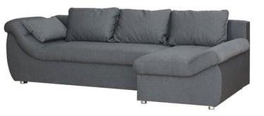 Kampinė sofa Bodzio Rojal Grey, dešininė, 258 x 145 x 73 cm