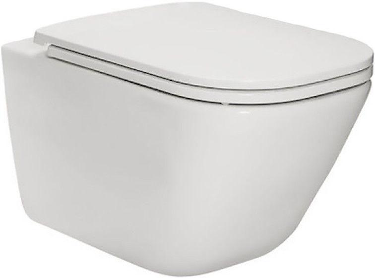Sienas tualete Roca The Gap Rimless White, ar vāku, 347x540 mm