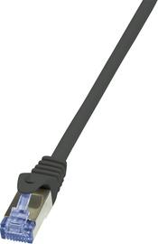 Võrgukaabel Logilink Cat.6A S/FTP Patch Cable CQ4143S, must, 50 m