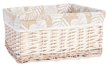 Home4you Willi Leaf Basket M 42x32xH19cm Light Brown