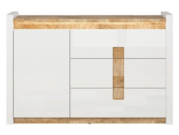 Black Red White Alameda Drawer 41x147x96.5cm White Oak