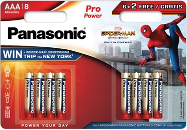 Panasonic Spiderman Pro Power 6+2 x AAA