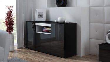 Cama Meble Viva 150 Chest Of Drawers Black/White/Black Gloss