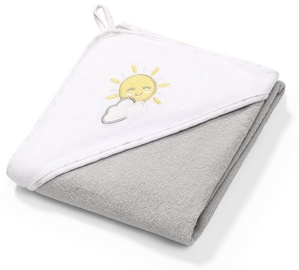 Dvielis BabyOno Terry Hooded Grey, 76x76 cm