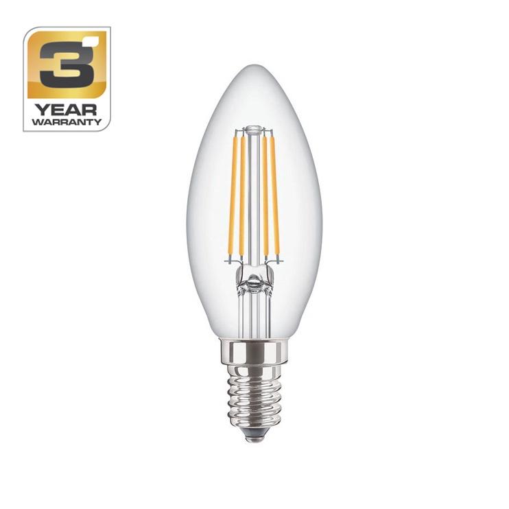 SPULDZE LED FIL B35 4W E14 WW CL ND 470L (STANDART)