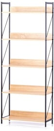Homede Tukke Shelf 27.6x62x155cm Oak