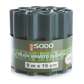 Apmale zālienam/dobēm Sodo Centras, 15x900cm, zaļa