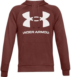 Under Armour Rival Fleece Big Logo Hoodie 1357093-688 Brown M