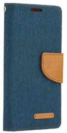 Forcell Canvas Flexi Flip Book Case For Sony Xperia L1 Dark Blue