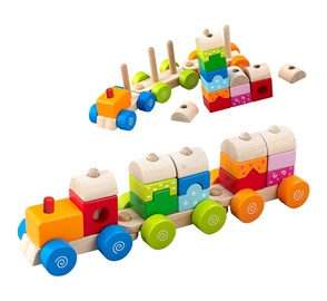 Žaislinis medinis traukinys HJD932073A