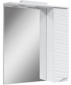 Vannitoakapp Sanservis Atlanta-50 Cabinet with Mirror White 50x86.5x17cm