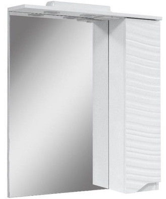 Vannas istabas skapis ar spoguli Sanservis Atlanta-50 White 50x86.5x17cm