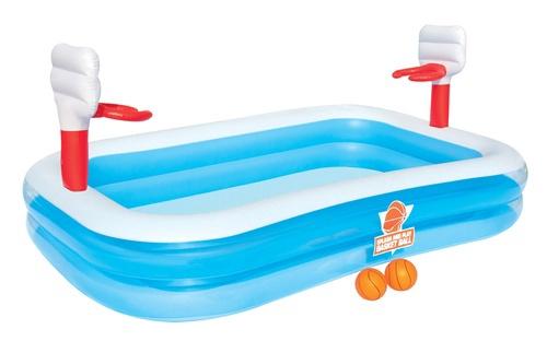 Pripučiamasis vaikiškas baseinas su krepšiu Bestway, 254 x 168 x 102 cm