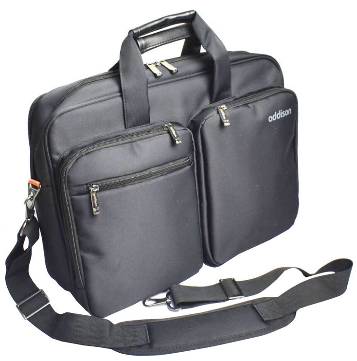 Addison Notebook Bag Preston Black 15.6""