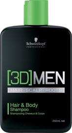 Šampoon Schwarzkopf 3D Hair & Body, 250 ml