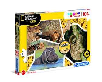 Пазл Clementoni National Geographic Kids Animals 27143, 104 шт.
