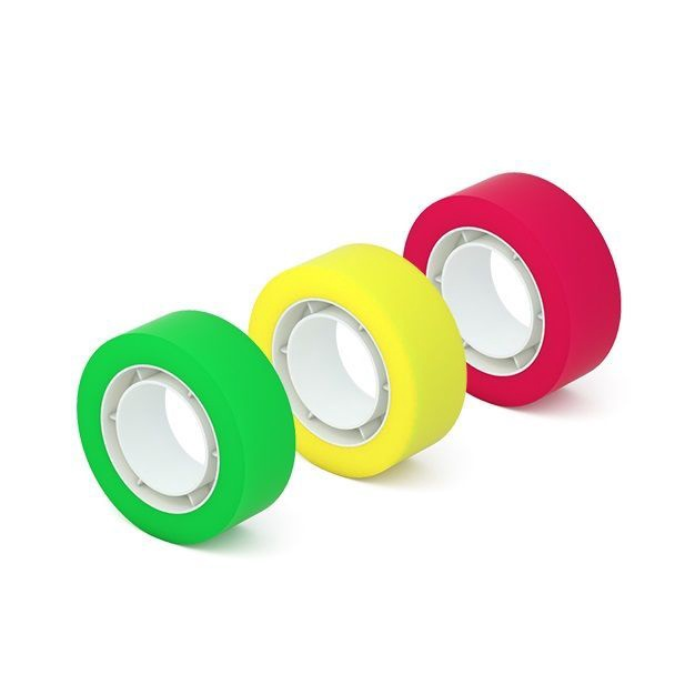 ErichKrause Highlighter Tape 18mmx20m Colored 3pcs