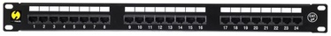 Netrack Patch Panel 19'' CAT5e UTP 24-Port + Shelf + Wall Outlet 1xRJ45