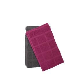 Köögirätik Lotos-Square 6141703 Grey/Cherry, 30x50 cm, 2 tk