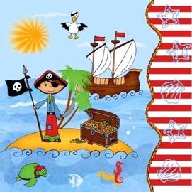 Pap Star Pirate 33 x 33 cm 20pcs