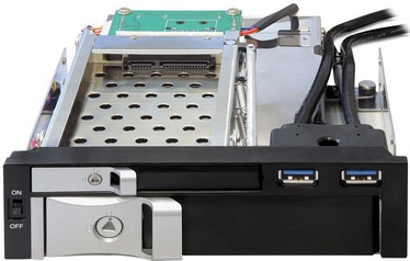 "Delock 5.25"" Mobile Rack for 2.5"" and 3.5"" SATA HDD w/ 2 x USB 3.0"