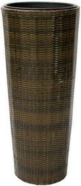 Home4you Flower Pot Wicker  D45xH103cm Brown 92641