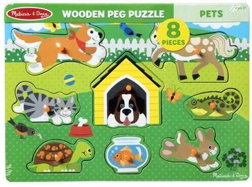 Melissa & Doug Pets Peg Puzzle 8pcs 9053