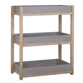 Home4you Sandstone Shelf 80x35x98cm Grey/Brown