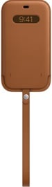 Чехол Apple iPhone 12 Pro Max Leather Sleeve with MagSafe, коричневый