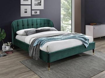 Signal Meble Liguria Velvet Bed 160x200cm Green