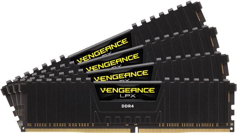 Corsair Vengeance LPX Black 64GB 2666MHz CL16 DDR4 KIT OF 4 CMK64GX4M4A2666C16