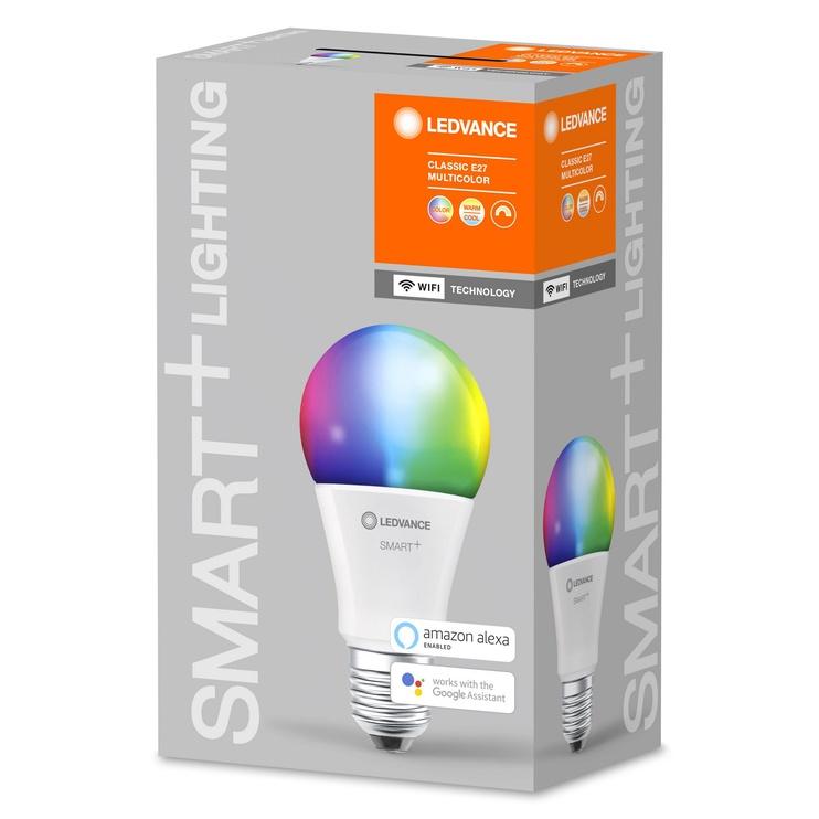 Viedā spuldze Ledvance LED, E27, A60, 9 W, 806 lm, 2700 - 6500 °K, rgb, 1 gab.