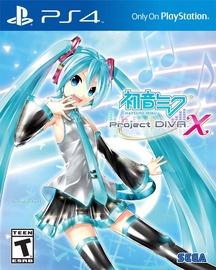 PlayStation 4 (PS4) mäng Hatsune Miku: Project Diva X PS4