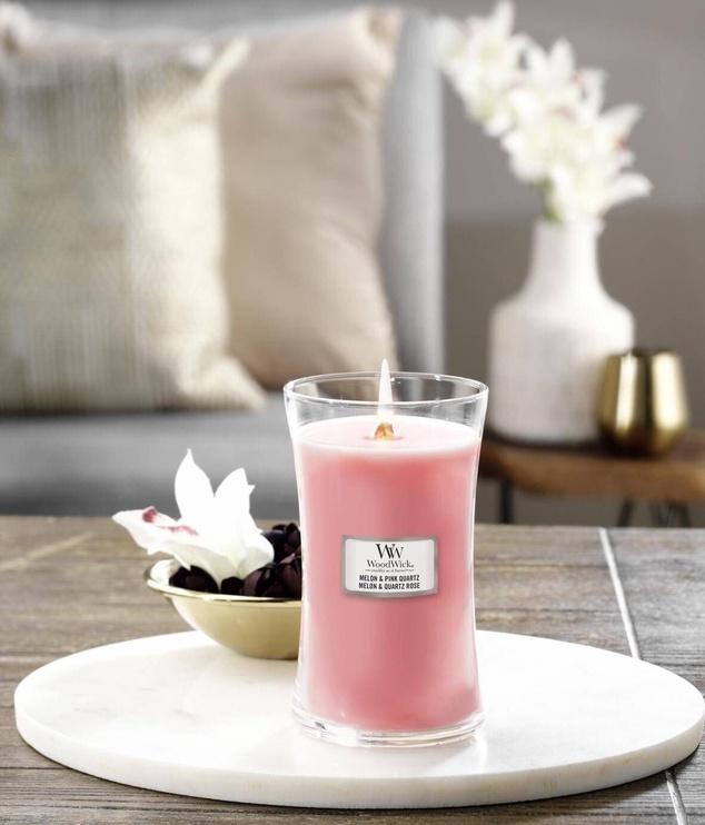 Ароматическая свеча WoodWick Melon & Pink Quartz, 120 час, 0.6095 кг