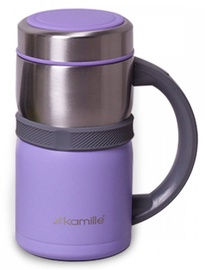 Kamille Vacuum Flask 500ml Purple KM2018