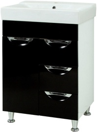 Sanservis Laura-60 Cabinet with Basin Como-60 Black 60x83x45cm