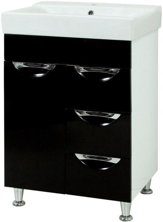 Sanservis Laura-60 Cabinet with Basin Como-60 Black 60x83x45cm