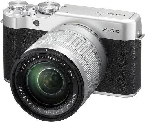 Fujifilm X-A10 Mirrorless Digital Camera + 16-50mm Lens Silver