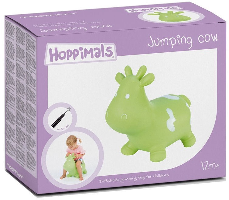 Tootiny Hoppimals Jumping Cow Green