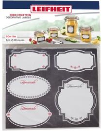 Leifheit Deko-Set Jar Labels Set Of 20pcs Black/White