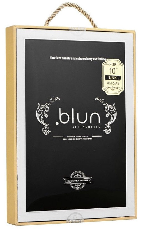 """Blun UNK Universal Book Case w/Bluetooth Keyboard and Stand 8"""" Black"""