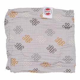 Lodger Dreamer Xandu Muslin Baby Blanket 120x120cm Mist Knot
