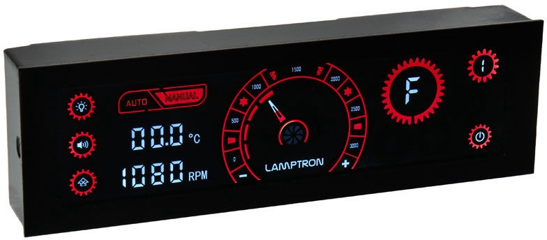 Lamptron CR430 LED and Fan Control Red/Black